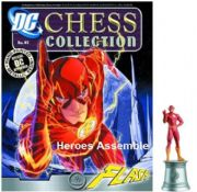 DC Chess Figurine Collection #41 Flash White Bishop Justice League Eaglemoss